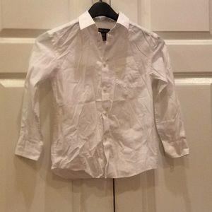 Boys Cherokee Long Sleeve Shirt White Barely Used